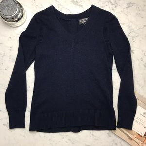 Banana Republic Navy Blue V Neck italian Sweater